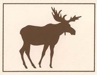 Brown Moose Fine Art Print