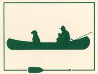 Green Canoe Fine Art Print