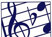 Blue Musical Notes Fine Art Print