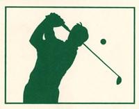 Green Golfer Fine Art Print