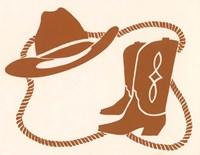 Cowboy Gear Fine Art Print