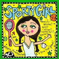 Sporty Girl Fine Art Print
