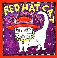 Red Hat Cat Fine Art Print