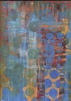 Texture - Blue Dots Fine Art Print