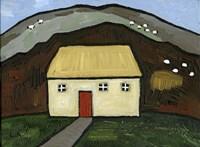 Cottage with Red Door Fine Art Print