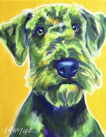 Airedale Terrier - Apple Green Fine Art Print