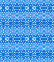 Blue Diamonds Fine Art Print