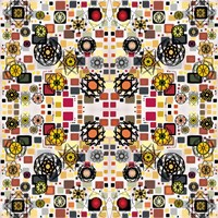 Flowers in Squares Fine Art Print