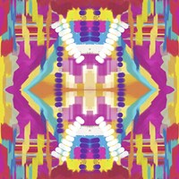Abstract purple beads Fine Art Print