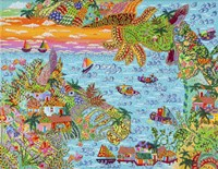 Pueblo del Mar Fine Art Print