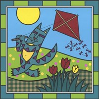 Max Cat Kite 1 Fine Art Print