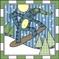Max Cat Snowboard 1 Fine Art Print