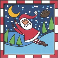 Santa Football 1 Fine Art Print