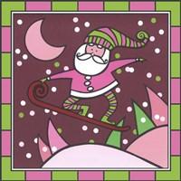 Santa Snowboard 1 Fine Art Print