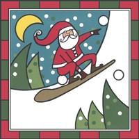 Santa Snowboard 2 Fine Art Print