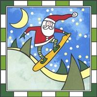 Santa Snowboard 3 Fine Art Print