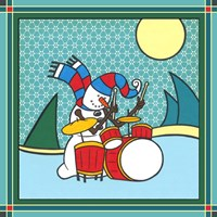 Coalman The Snowman Drums 1 Fine Art Print