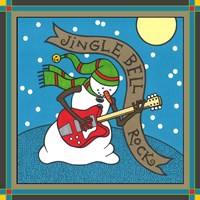 Coalman The Snowman Guitar 1 Fine Art Print