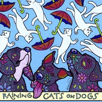 Raining Cats on Dogs Fine Art Print