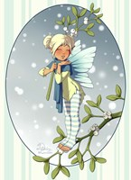 Mistletoe Fairy Fine Art Print