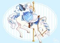 Carousel Blue Fine Art Print