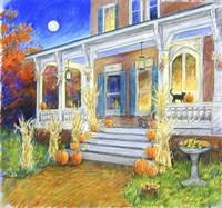 Halloween Porch Fine Art Print