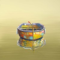 1 Boat Yellow Fine Art Print