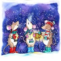 Christmouse Carols Fine Art Print
