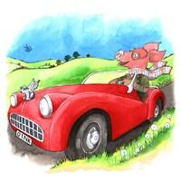 Road Hog Fine Art Print