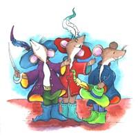 The Three Mouseketeers Fine Art Print