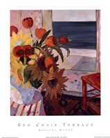 Red Chair Terrace Fine Art Print
