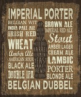 Craft Beer Sign III Fine Art Print