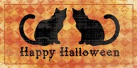 Cats - Happy Halloween Fine Art Print