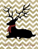 Deer - Home For the Holidays Fine Art Print