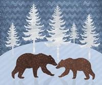 Bear - Snowy Landscape Fine Art Print
