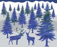 Deer in the Woods Fine Art Print