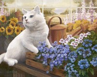Guardian Of The Greenhouse Fine Art Print