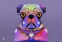 PUG Purple XXXIII Fine Art Print