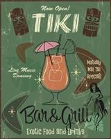 Tiki Bar & Grill B Fine Art Print