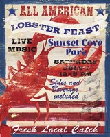 All American Lobster Framed Print