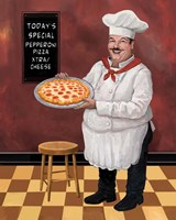 Pizza Chef Master Fine Art Print