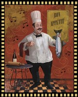 Chef Fish Master Design Fine Art Print