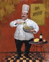 Chef Pasta Master Fine Art Print
