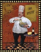 Chef Pasta Master Design Fine Art Print