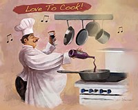 Chef Wine Fine Art Print
