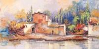 Case sul lago Fine Art Print