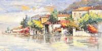 Paese sul lago Fine Art Print