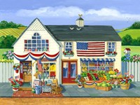 4th of July Market Fine Art Print