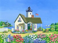 Lighthouse Cottage Fine Art Print