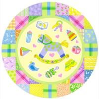 Baby Theme Round Fine Art Print